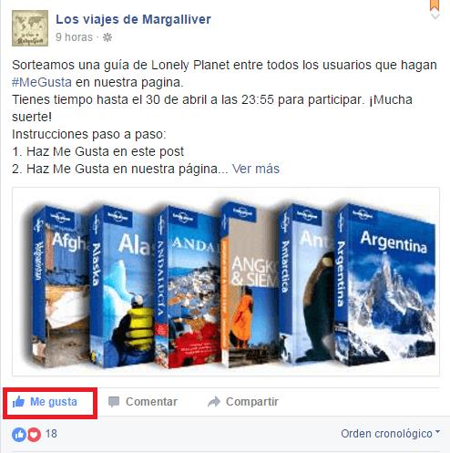 sorteo guia lonely planet en facebook - los viajes de margalliver