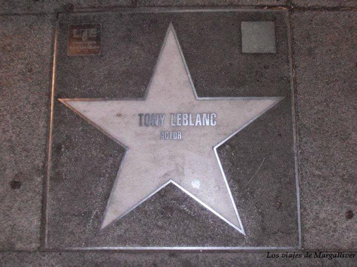 Estrella Tony Leblanc que vimos despues de visitar el Rastro de Madrid