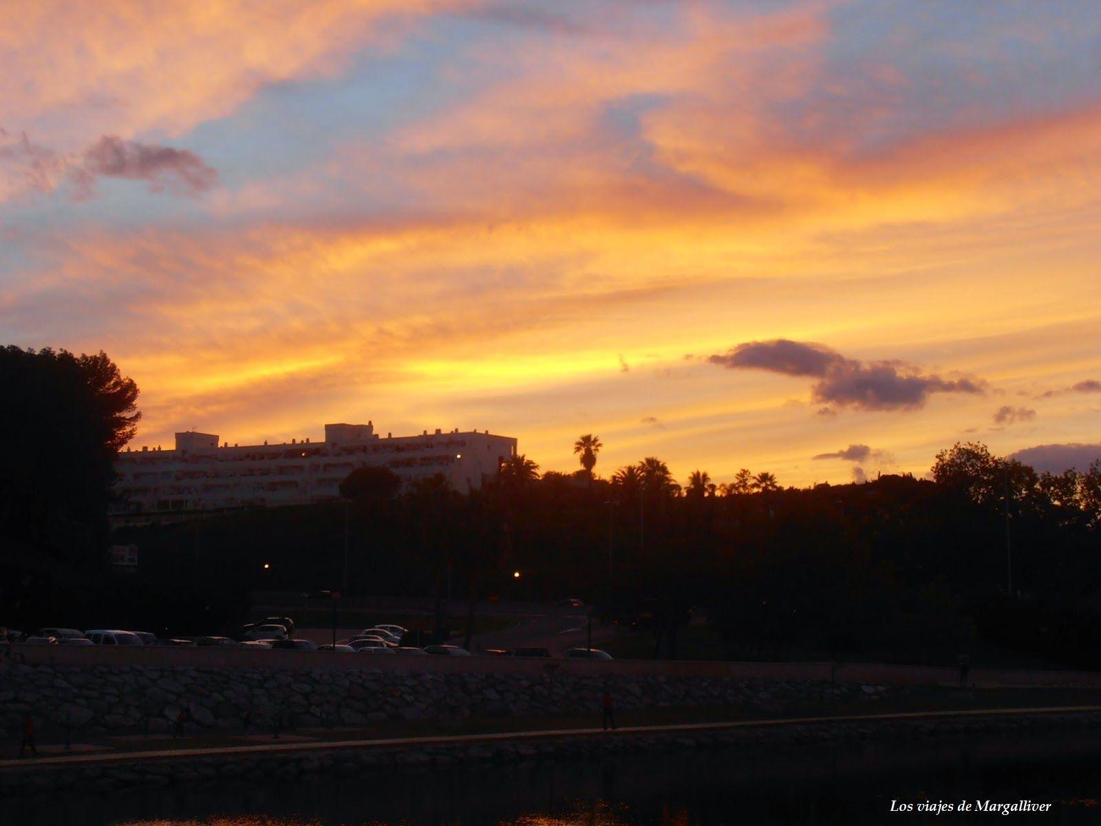 puesta de sol Fungirola- Los viajes de Margalliver