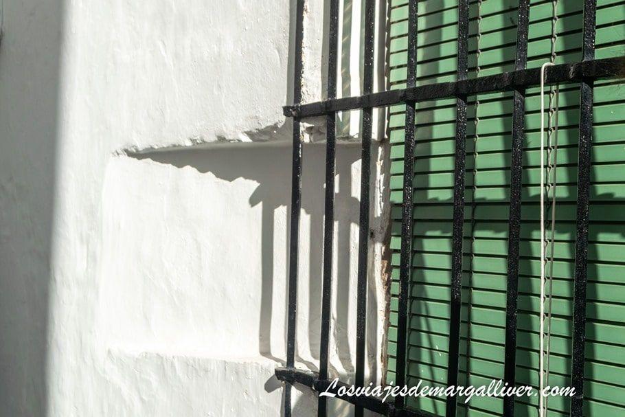 Orejeras en Arcos de la Frontera, huecos en ventana