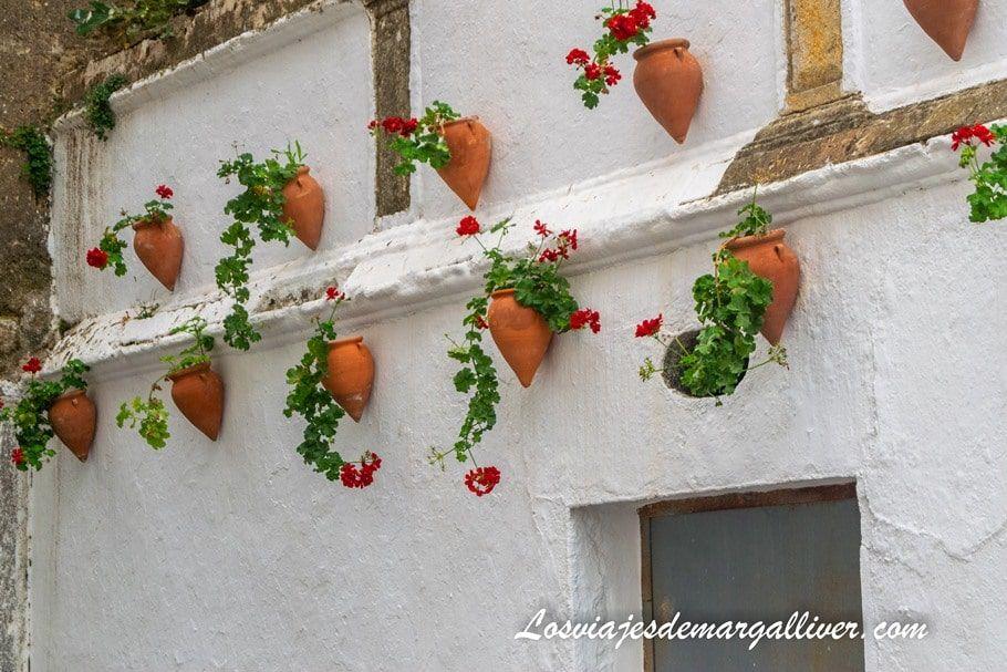 Típica calle blanca con macetas en Andalucía - Los viajes de Margalliver