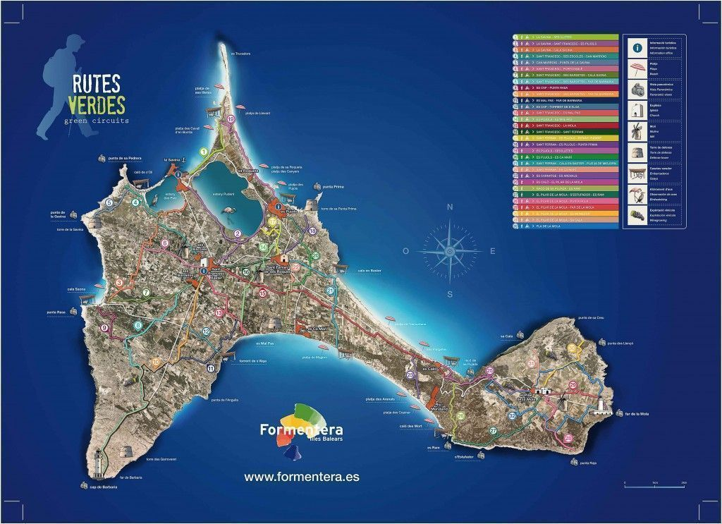 mapa rutas verdes de formentera -los viajes de margalliver