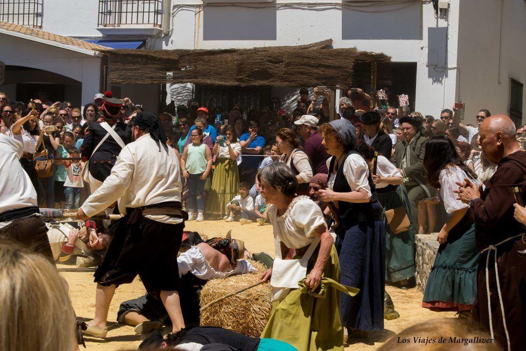 Algodole´@s siendo fusilados, Algodonales la recreación batalla del 2 de Mayo- los viajes de margalliver