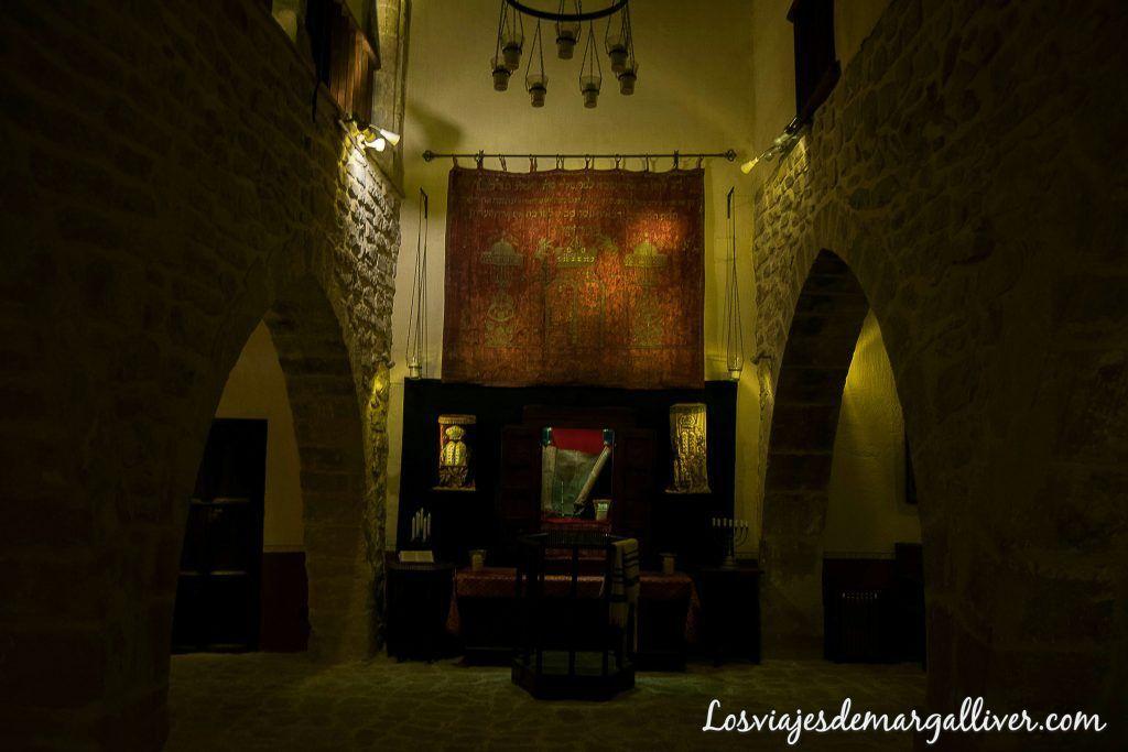 interior de la sinagoga del agua en Úbeda - Los viajes de margalliver