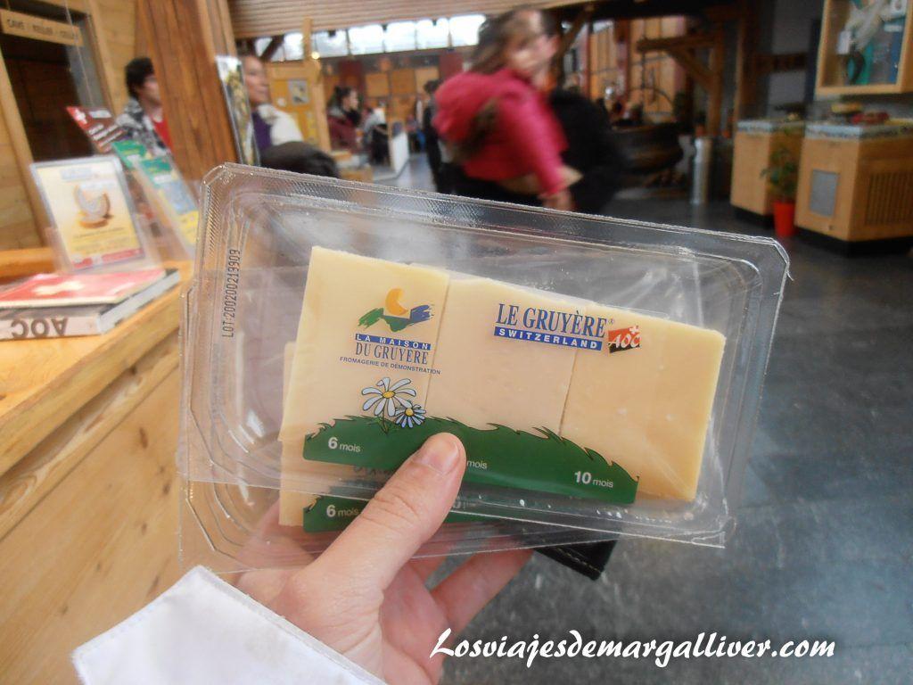 obsequio de la fábrica de quesos en Gruyeres - Los viajes de Margalliver