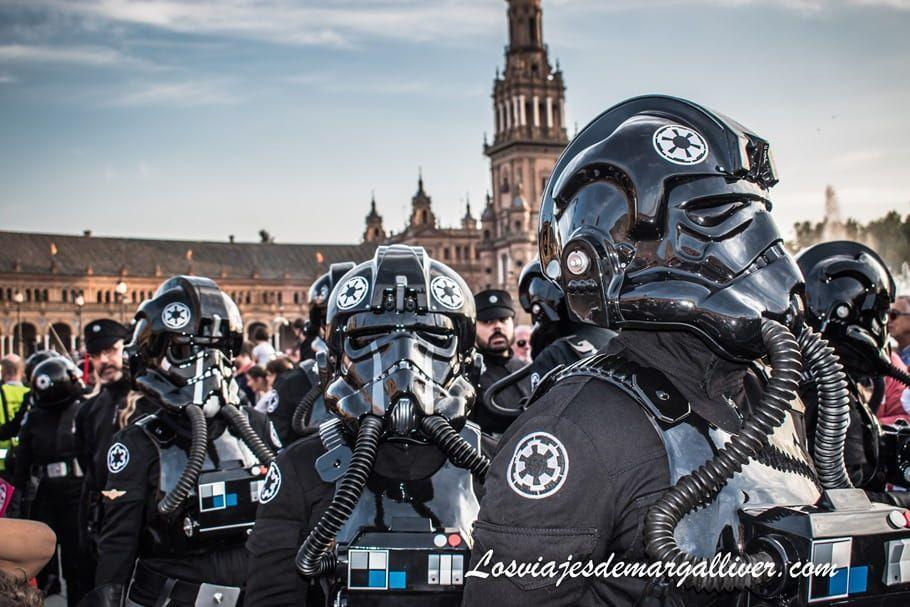 Star Wars en Plaza de España de Sevilla - Los viajes de Margalliver