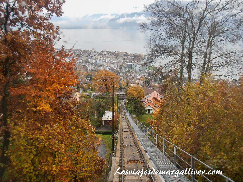 Vistas desde el Funicular de Vevey, incluido en el Swiss Pass