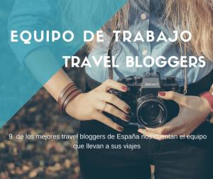 Equipo de viaje de los travel blogger