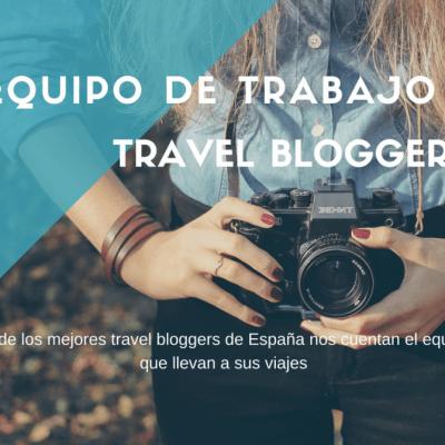 Equipo de viaje de los travel bloggers