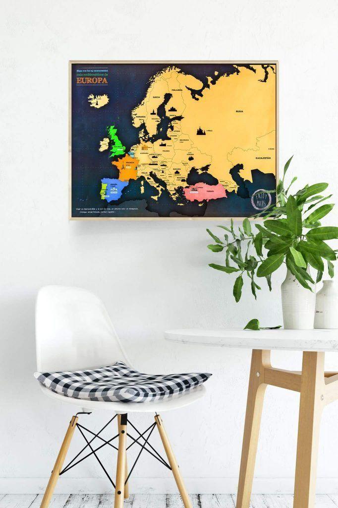 Mapa de Europa rascable de EnjoyMaps, sorteo primer aniversario - Los viajes de Margalliver