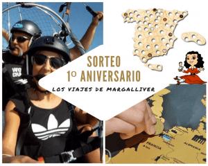 Sorteo primer aniversario Los viajes de Margalliver
