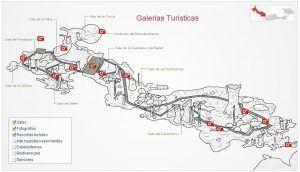 Mapa interior cueva de Nerja