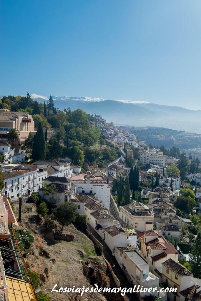 vistas desde nuestra habitación del hotel Alhambra Palace en Granada - Los viajes de Margalliver