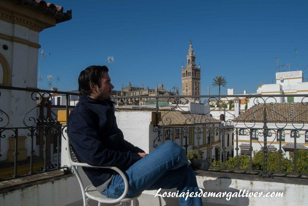La terraza de la casa museo del pintor Amalio en Sevilla - Los viajes de Margalliver