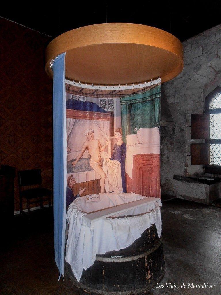 Bañera de una de las habitaciones del castillo de Chillon - Los viajes de Margalliver