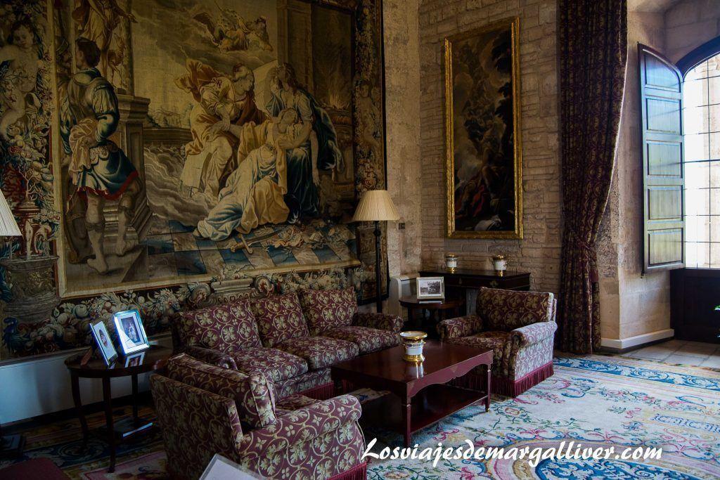 Salon del palacio de Almudaina en Palma de Mallorca - Los viajes de Margalliver