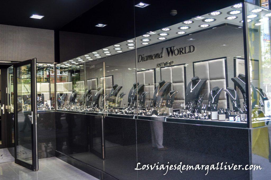Tienda de diamantes en Amberes - Los viajes de Margalliver