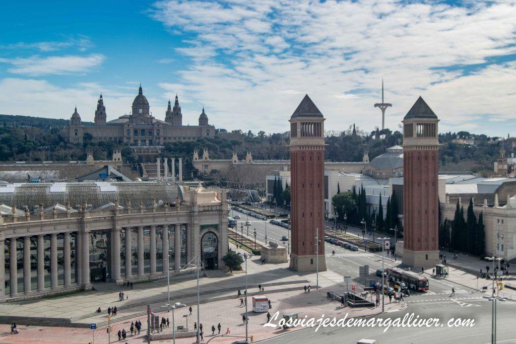 Plaza de España y vistas de Montjuic, Barcelona en 3 días - Los viajes de Margalliver