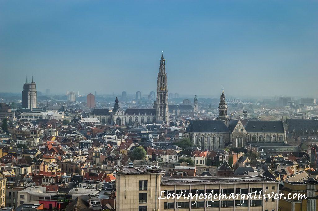Vistas desde la terraza del MAS, visitar Amberes en un día - Los viajes de Margalliver