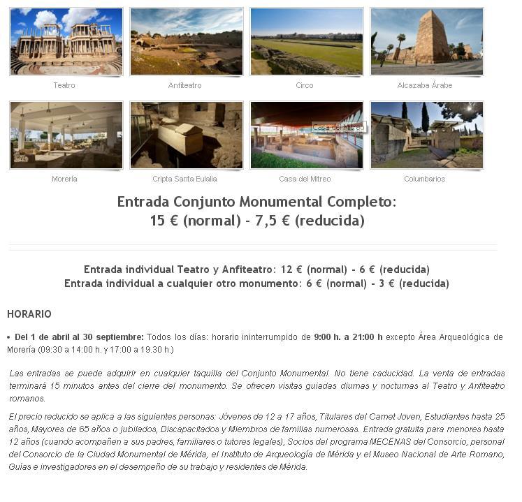 Entrada conjunto monumental en Mérida, que ver en un fin de semana en Mérida - Los viajes de margalliver