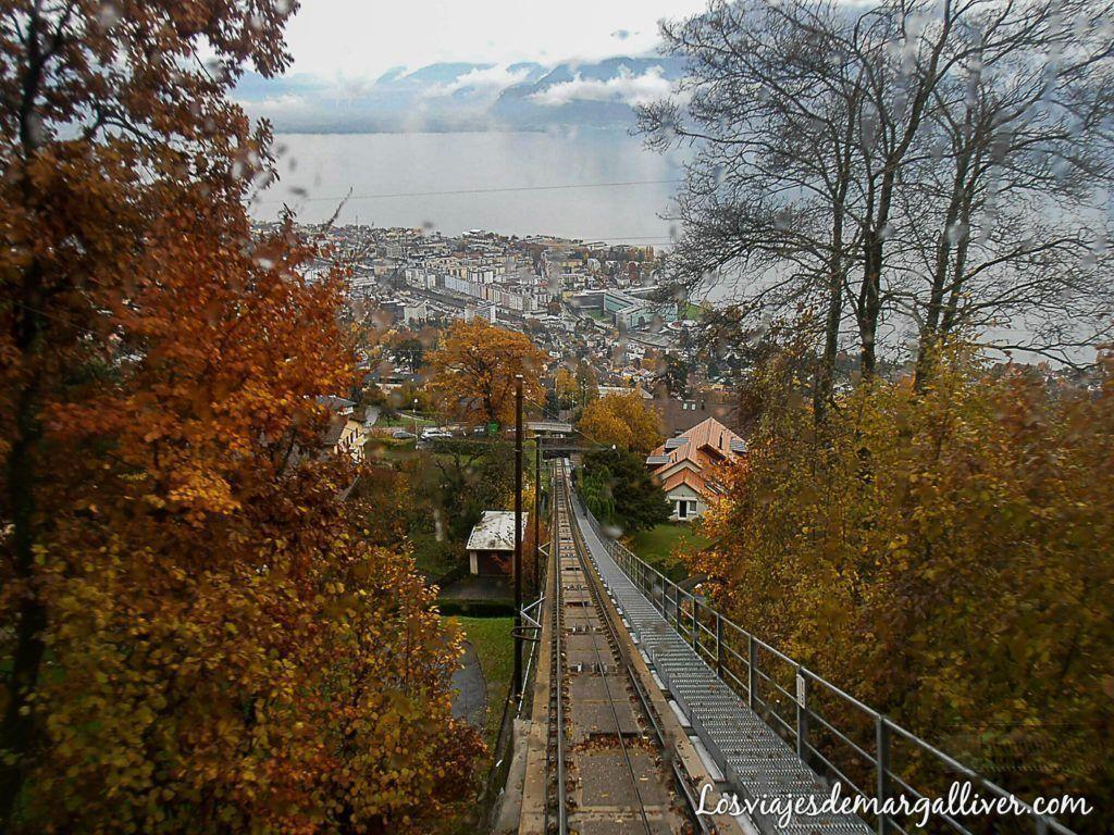 funicular de Vevey, Visitar Montreux en Suiza- los viajes de margalliver