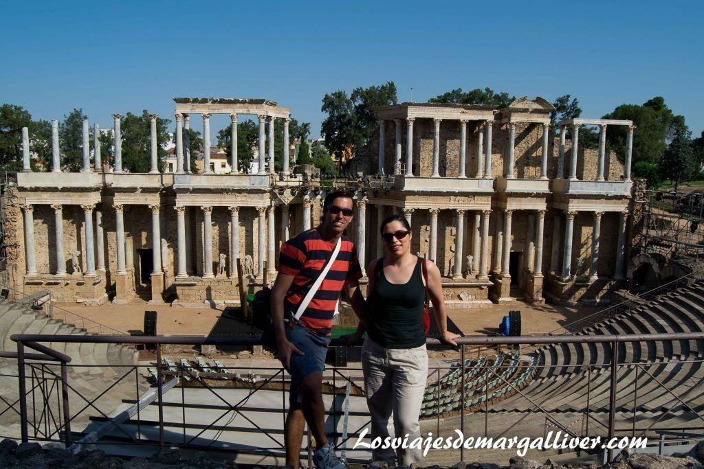 Teatro romano de Mérida - Los viajes de Margalliver