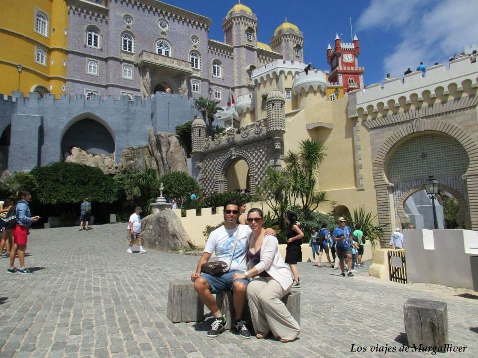 Nosotros en el Palacio da Pena, visitar Sintra - Los viajes de Margalliver