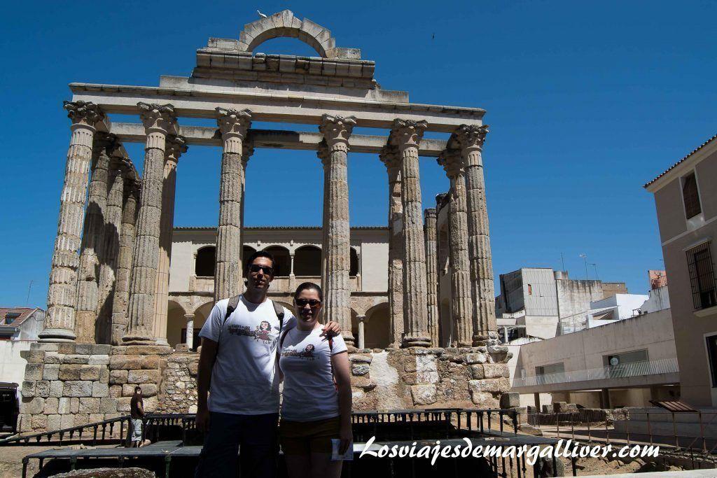 Templo de Diana en Mérida - Los viajes de Margalliver