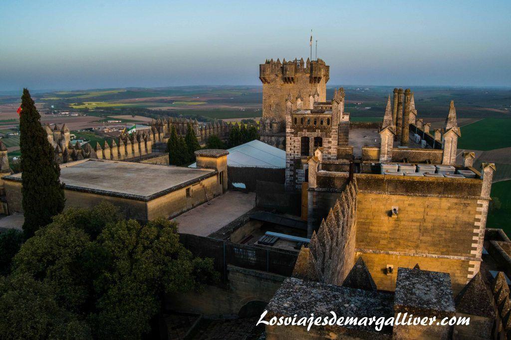 Vistas desde una torre del castillo de almodovar en la ruta de Juego de Tronos por Andalucía - Los viajes de margalliver