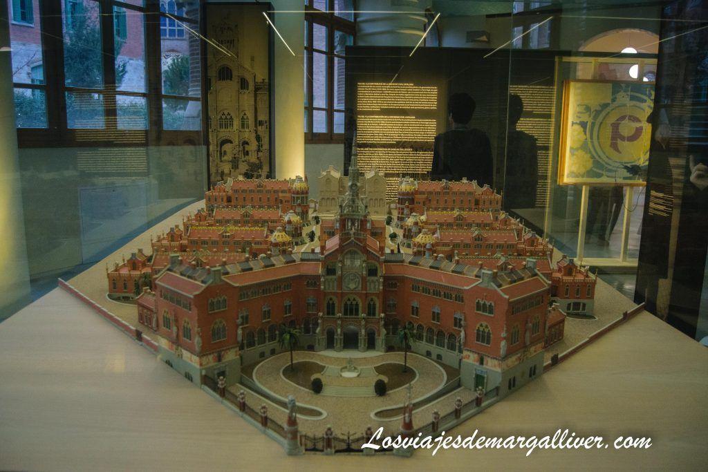 Maqueta del reciento modernista del Hospital de Sant Pau de Barcelona - Los viajes de Margalliver