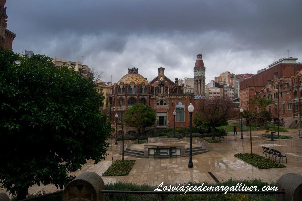 Vista del Patio del Hospital de Sant Pau en Barcelona - Los viajes de Margalliver