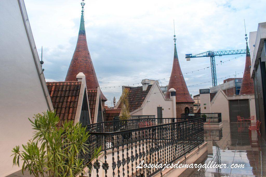 Terraza de la Casa de les Punxes en Barcelona - Los viajes de Margalliver