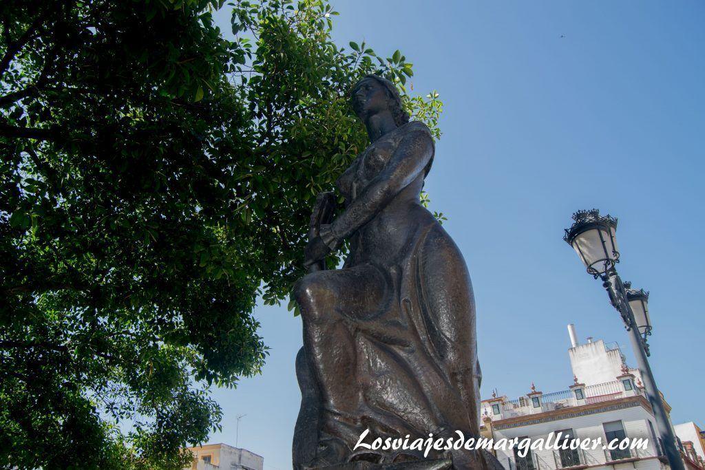 Monumento al flamenco en Triana ,en la Sevilla Americana - Los viajes de Margalliver