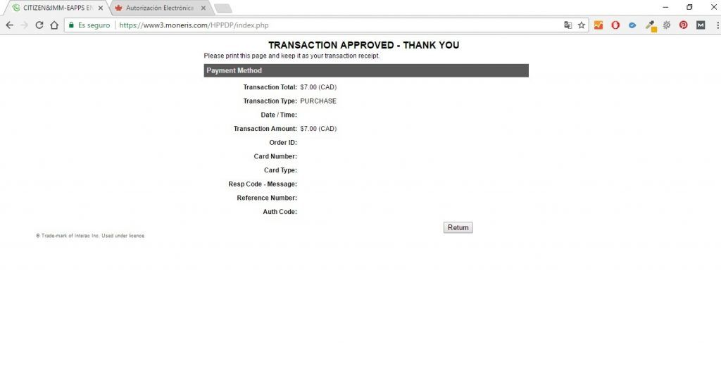 Página que muestra que el pago ha sido correcto - Los viajes de Margalliver