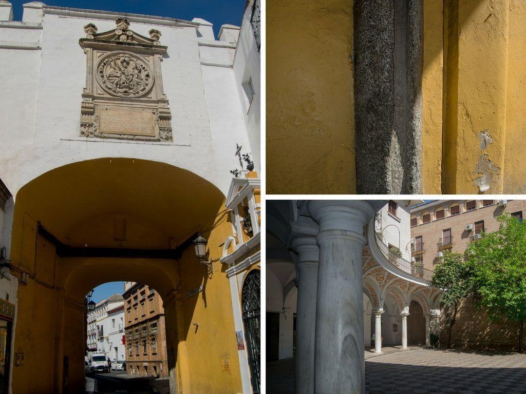 Arco del postigo y plaza del cabildo en la Sevilla americana - Los viajes de Margalliver