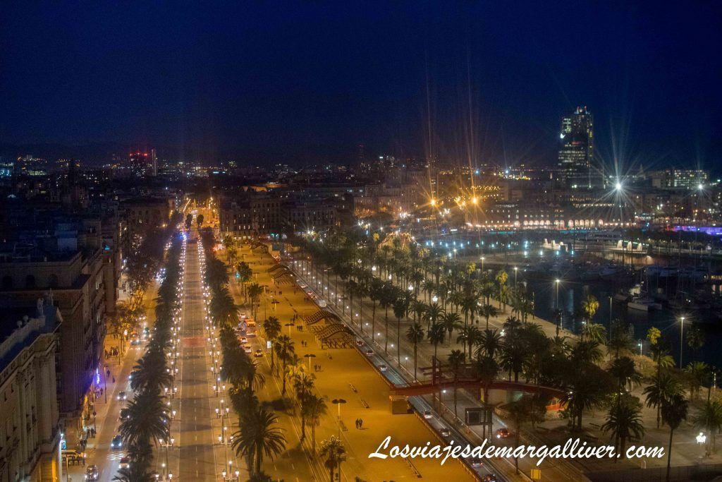 Vistas desde el mirador de Colón en Barcelona, que ver en Barcelona en 3 días - Los viajes de Margalliver
