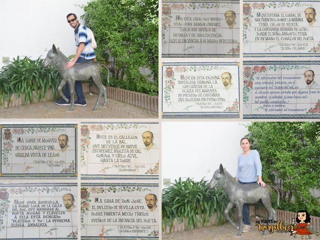 Qué ver en Moguer , azulejos de Platero y yo en Moguer - Los viajes de Margalliver