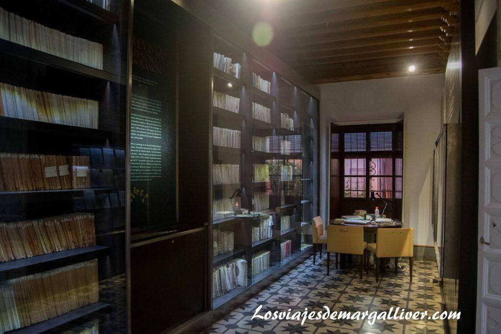 Qué ver en Moguer, bIblioteca de la casa museo JR Jiménez - Zenobia en Moguer - Los viajes de Margalliver