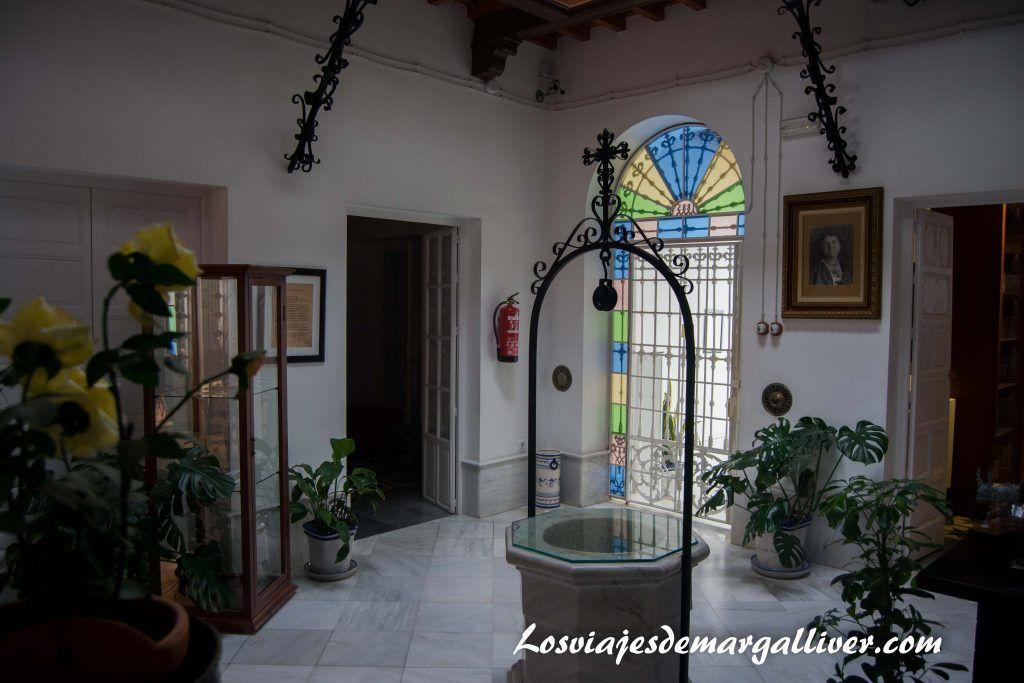 Que ver en Moguer,Patio de la casa museo J.R Jiménez - Zenobia en Moguer - Los viajes de margalliver