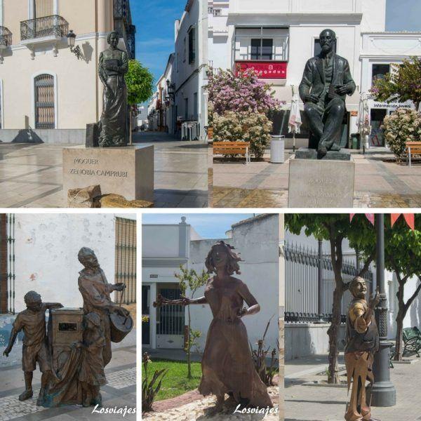 Qué ver en Moguer , museo al aire libre de esculturas en Moguer - Los viajes de Margalliver