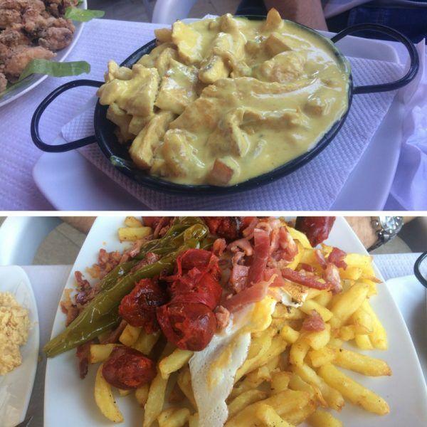 Qué comer en Moguer , Pollo a la mostaza y revuelto campero en la Yunta , Moguer - Los viajes de Margalliver