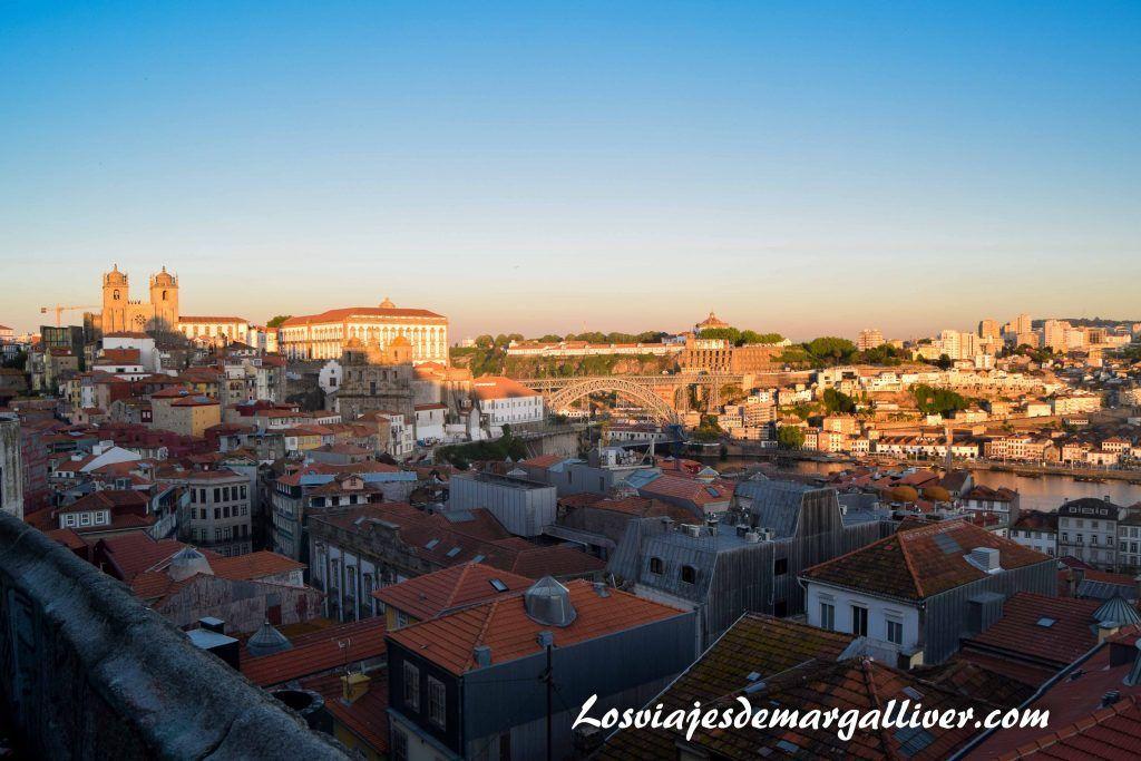 Vistas desde el mirador Sao Benito da Vitoria en Oporto en dos días - Los viajes de Margalliver que ver en Oporto