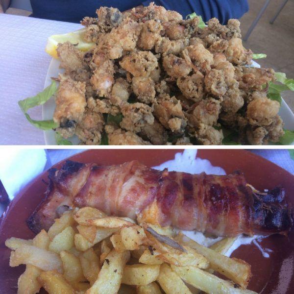 Qué comer en Moguer , Puntillitas y solomillo relleno en la Yunta , Moguer - Los viajes de Margalliver
