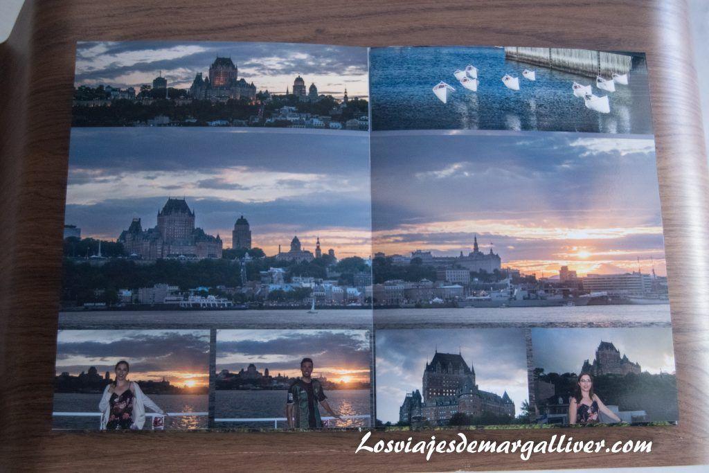 Ejemplo de página con fotografía compartida del álbum de Saal Digital - Los viajes de margalliver