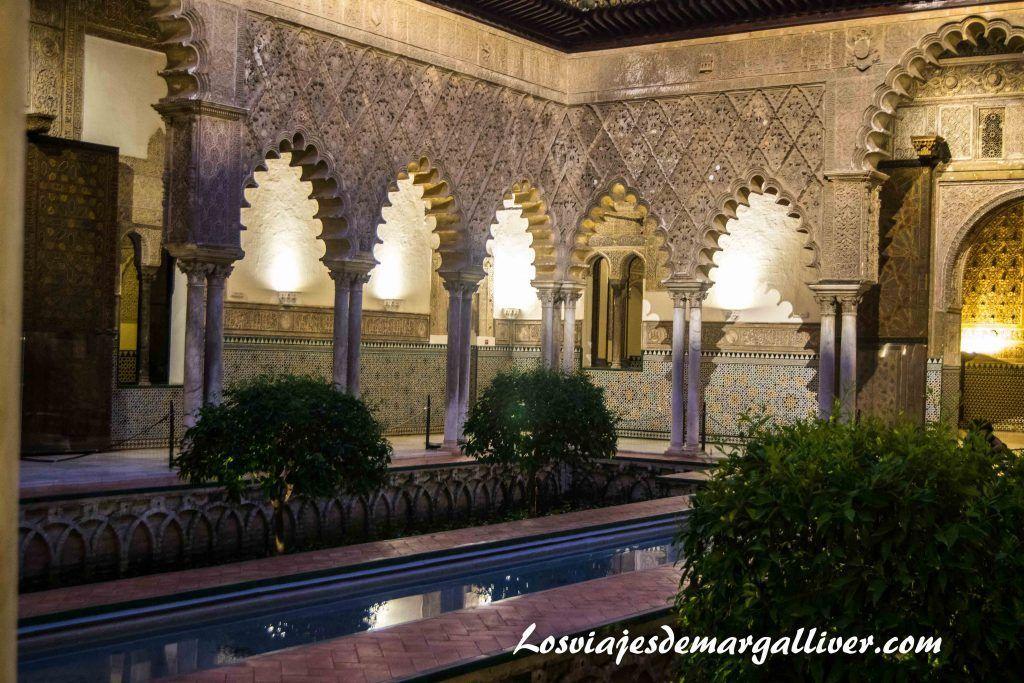 jardín del palacio mudéjar del real alcázar de Sevilla - Los viajes de margalliver