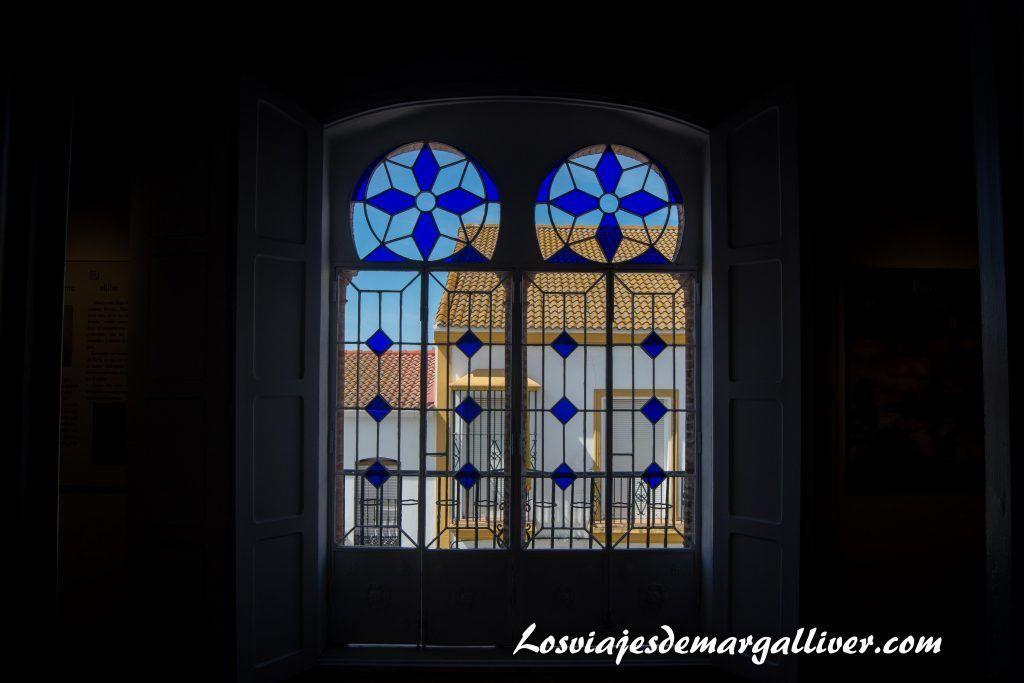 Vidrieras de la casa natal de JR Jiménez en Moguer - Los viajes de Margalliver