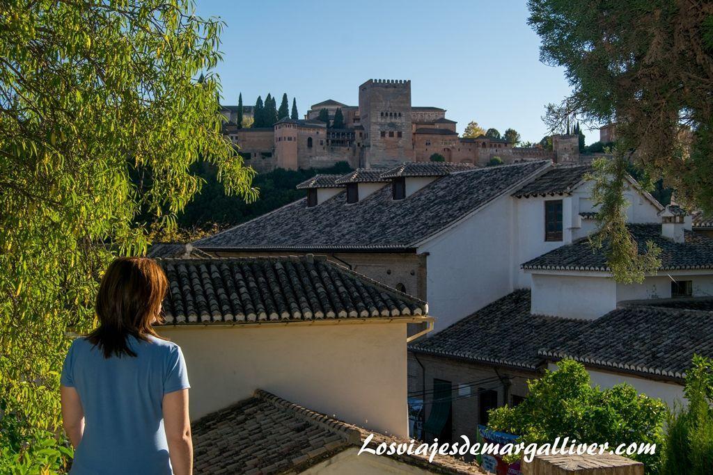 Vistas de la Alhmabra desde la Casa del Chapiz, visitar Granada - Los viajes de Margalliver