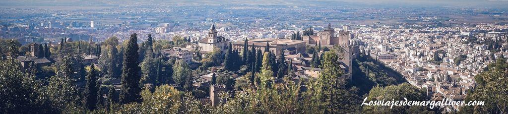 Vistas desde el mirador Silla del Moro, Visitar Granada - Los viajes de Margalliver
