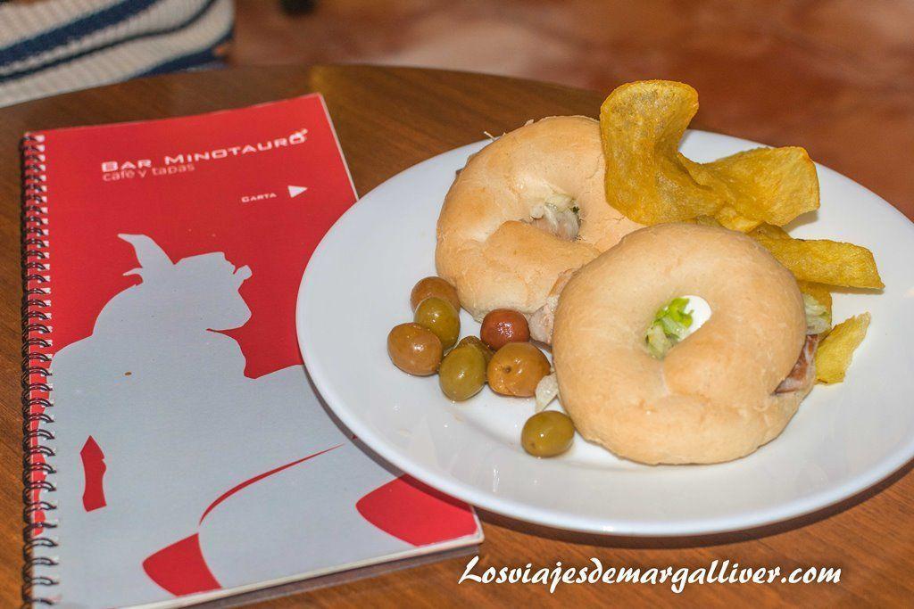 Tapa del Bar Minotaurao, visitar Granada - Los viajes de Margalliver