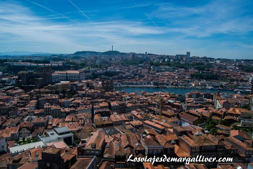 Vistas desde la Torre de los Clérigos, visitar Oporto - Los viajes de Margalliver